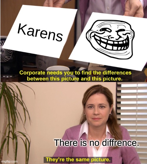 They're The Same Picture |  Karens; There is no diffrence. | image tagged in memes,they're the same picture | made w/ Imgflip meme maker