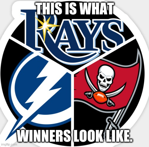 what winners are |  THIS IS WHAT; WINNERS LOOK LIKE. | image tagged in sports,hockey,baseball,football,super bowl,tampa bay | made w/ Imgflip meme maker