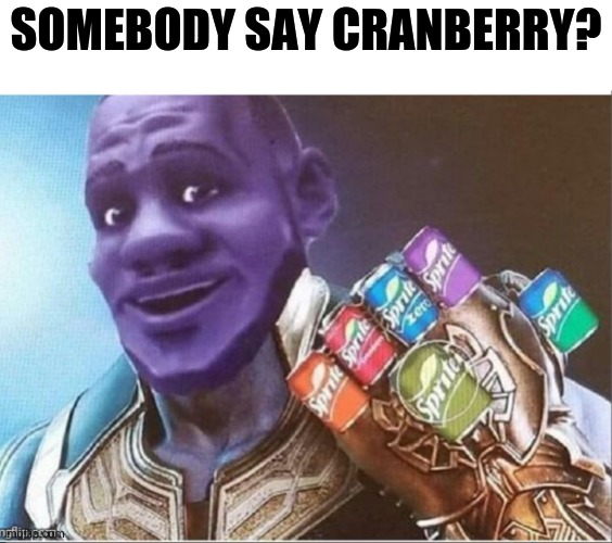 SOMEBODY SAY CRANBERRY? | made w/ Imgflip meme maker