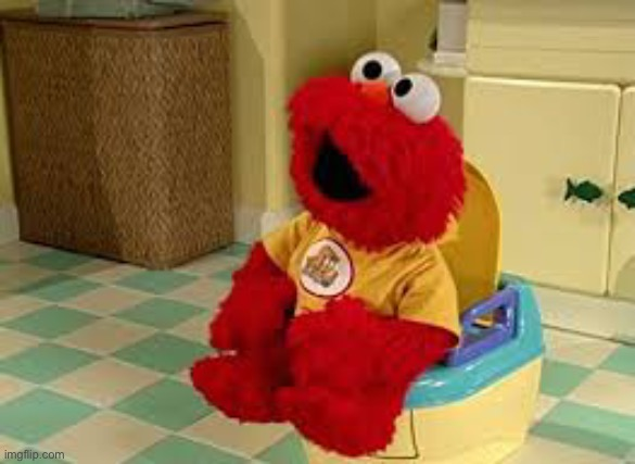 Elmo Potty | image tagged in elmo potty | made w/ Imgflip meme maker