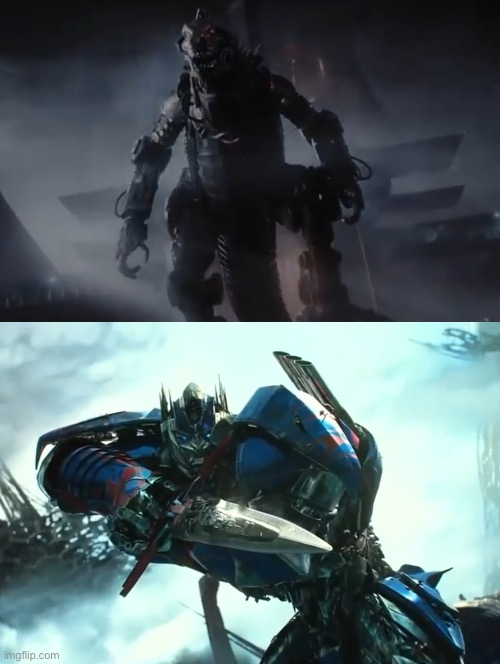 Optimus Prime vs Mechagodzilla | image tagged in optimus prime,mechagodzilla,transformers,godzilla,robots,fight | made w/ Imgflip meme maker