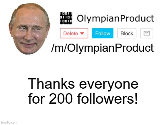 Olympians Flipper |  /m/OlympianProduct; Thanks everyone for 200 followers! | image tagged in olympians flipper | made w/ Imgflip meme maker