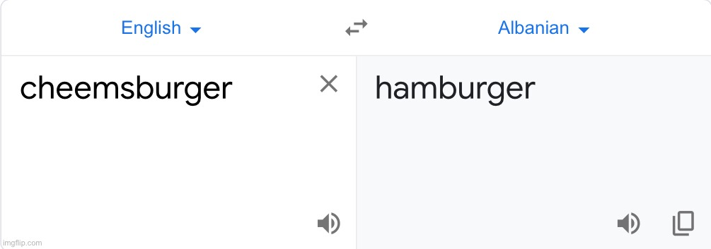 I tried to figure out what cheemsburger meant in Albanian and got this | image tagged in google translate,bruh | made w/ Imgflip meme maker