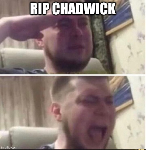 Crying salute | RIP CHADWICK | image tagged in crying salute | made w/ Imgflip meme maker