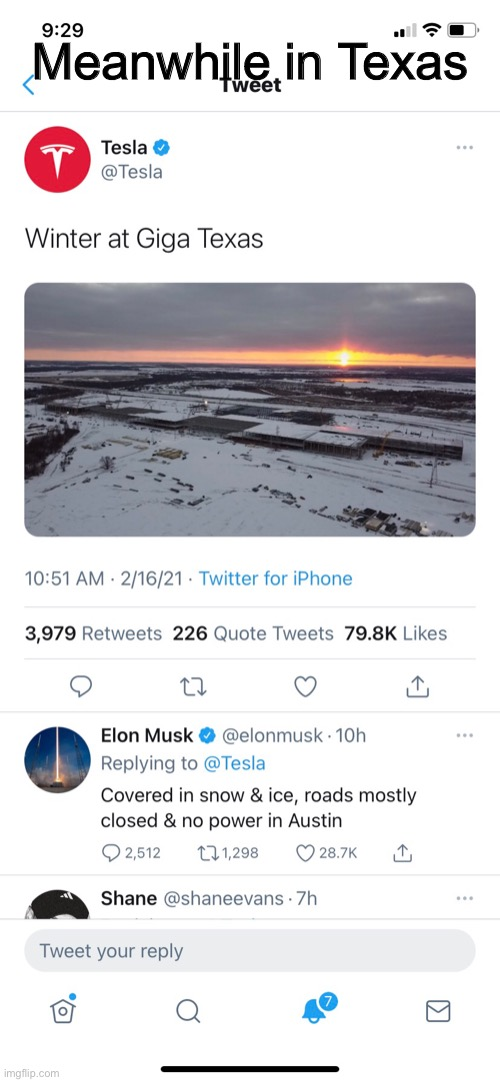 Snow! Giga Texas! |  Meanwhile in Texas | image tagged in tesla,cybertruck,elon musk,texas,snow,memes | made w/ Imgflip meme maker