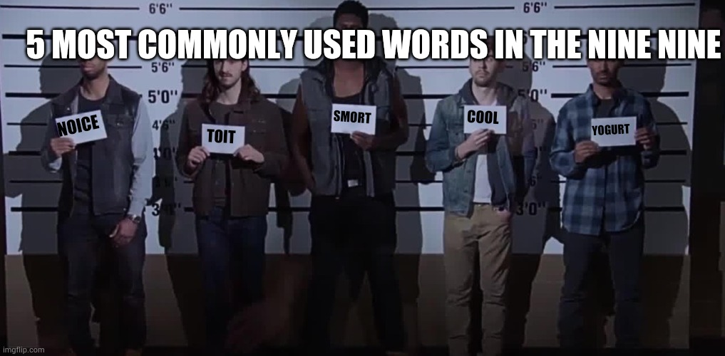 Terry loves yogurt |  5 MOST COMMONLY USED WORDS IN THE NINE NINE; SMORT; COOL; NOICE; YOGURT; TOIT | image tagged in i want it that way brooklyn nine nine,noice,toit,smort,cool,yogurt | made w/ Imgflip meme maker