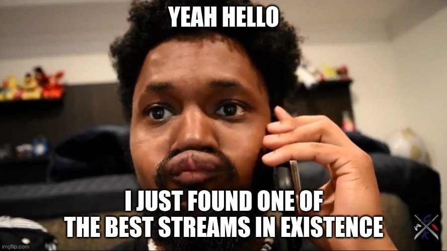 Coryxkenshin  |  YEAH HELLO; I JUST FOUND ONE OF THE BEST STREAMS IN EXISTENCE | image tagged in coryxkenshin | made w/ Imgflip meme maker