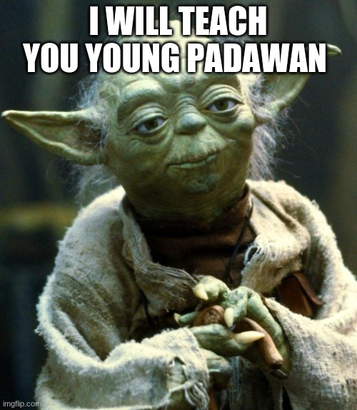 Star Wars Yoda Meme | I WILL TEACH YOU YOUNG PADAWAN | image tagged in memes,star wars yoda | made w/ Imgflip meme maker