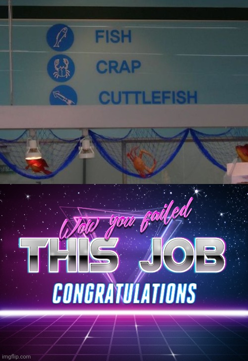 image tagged in wow you failed this job | made w/ Imgflip meme maker