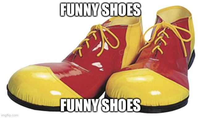 funny shoes |  FUNNY SHOES; FUNNY SHOES | image tagged in funny shoes | made w/ Imgflip meme maker