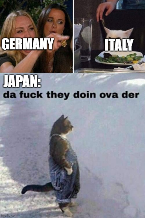 welp there goes their friendship |  ITALY; GERMANY; JAPAN: | image tagged in ww2,da fuq,memes,gifs,funny,dank | made w/ Imgflip meme maker