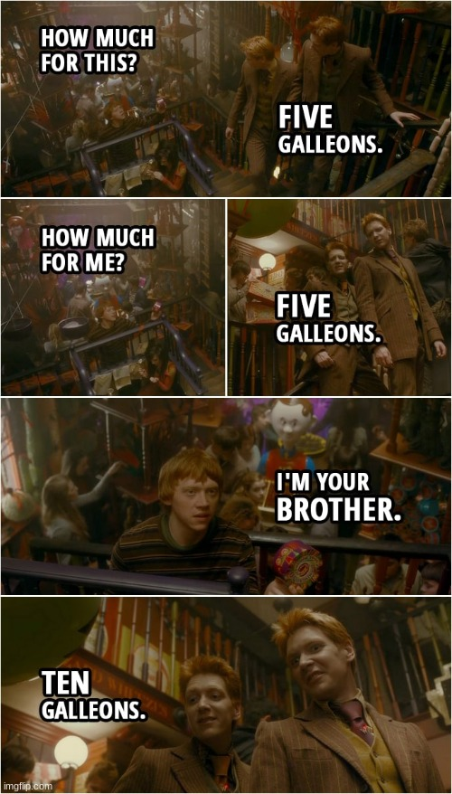 Five galleons | image tagged in five galleons | made w/ Imgflip meme maker