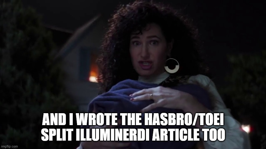It was Agatha all along |  AND I WROTE THE HASBRO/TOEI SPLIT ILLUMINERDI ARTICLE TOO | image tagged in wandavision,power rangers,hasbro,marvel | made w/ Imgflip meme maker