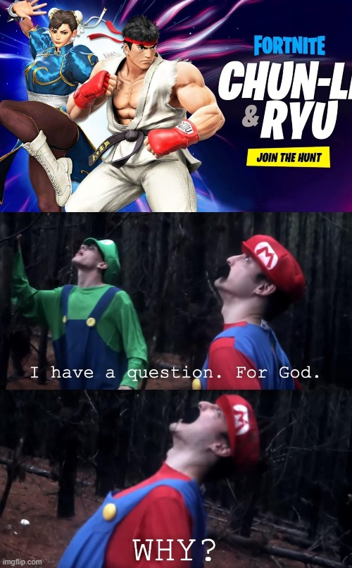 WHY STREET FIGHTER THO | image tagged in i have a question for god | made w/ Imgflip meme maker