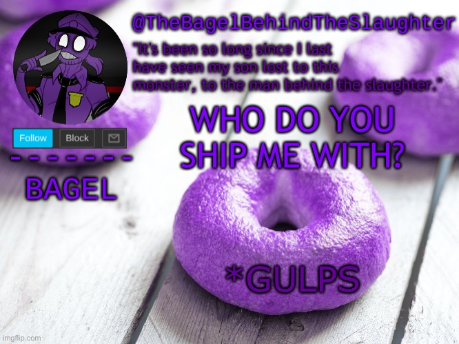 ya |  WHO DO YOU SHIP ME WITH? *GULPS | image tagged in announcement thingy new | made w/ Imgflip meme maker