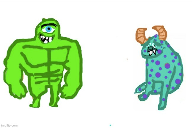 Monsters inc | image tagged in monsters inc,funny,drawing,buff doge vs cheems | made w/ Imgflip meme maker