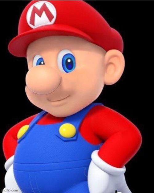 image tagged in bald mario | made w/ Imgflip meme maker