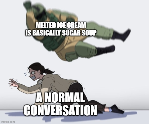The legend of Korra |  MELTED ICE CREAM IS BASICALLY SUGAR SOUP; A NORMAL CONVERSATION | image tagged in the legend of korra | made w/ Imgflip meme maker