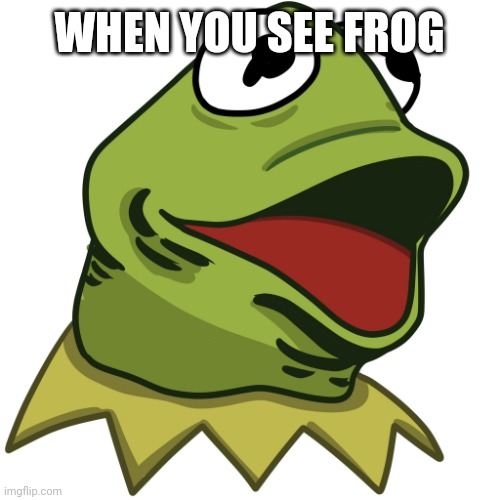 Frog |  WHEN YOU SEE FROG | image tagged in kermit the pog | made w/ Imgflip meme maker