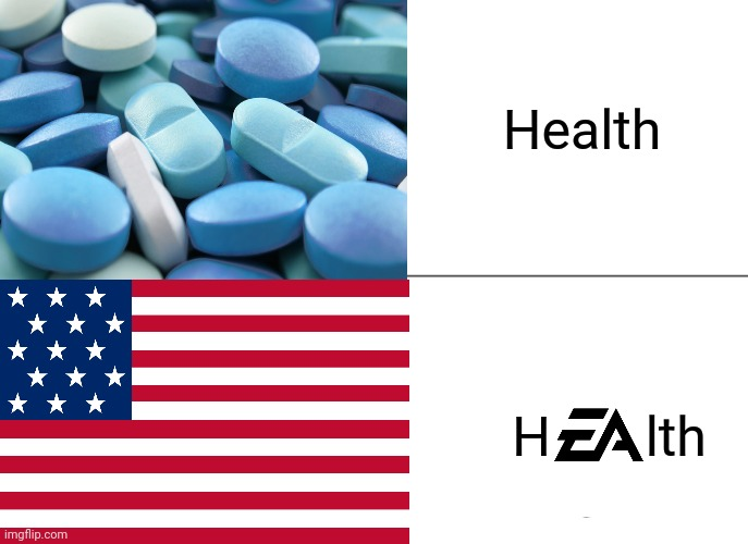 USA is pay to health |  Health; H       lth | image tagged in usa,health,usa flag | made w/ Imgflip meme maker