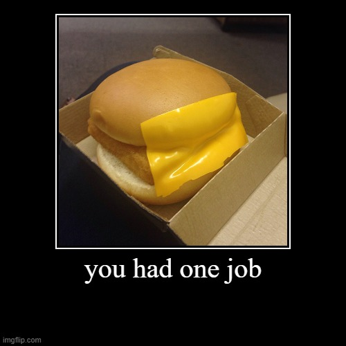 you had one job | you had one job | | image tagged in funny,demotivationals | made w/ Imgflip demotivational maker