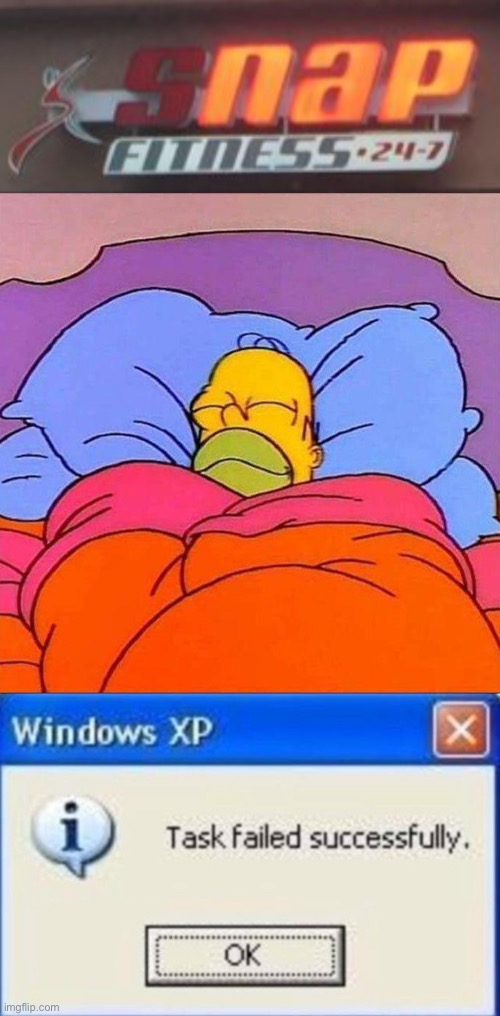 Nap Fitness | image tagged in homer napping,the simpsons,nap,task failed successfully,funny signs | made w/ Imgflip meme maker