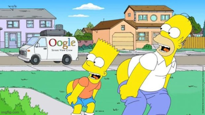 Homer and Bart Moonin | image tagged in homer and bart moonin | made w/ Imgflip meme maker