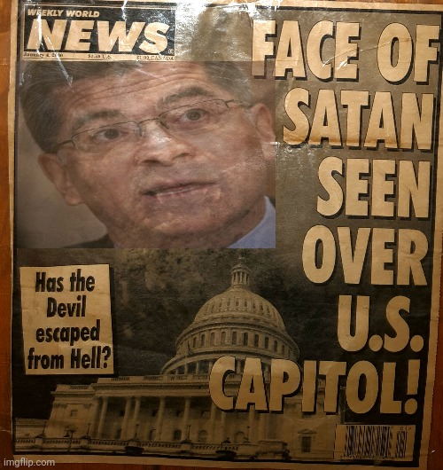 Becerra: satan incarnate | image tagged in satan,abortion,democrats,biden,babies | made w/ Imgflip meme maker