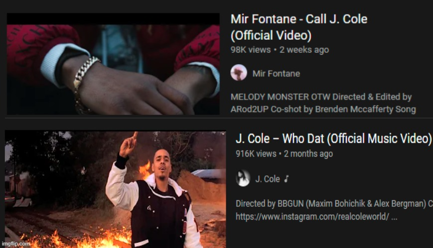 Coincidence? | image tagged in j cole,rap,music,youtube | made w/ Imgflip meme maker