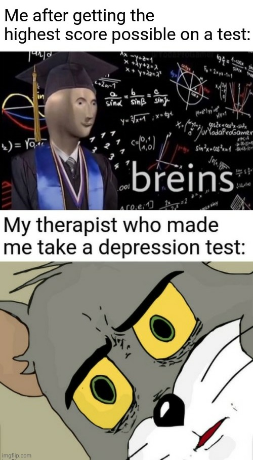 bruh | image tagged in meme man,stonks guy,depression,unsettled tom,bruh,dark | made w/ Imgflip meme maker