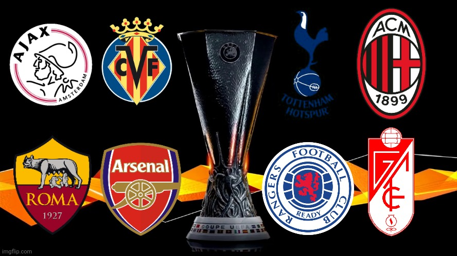 My Europa League Quarter-finalists Prediction | image tagged in memes,football,soccer,europa league,arsenal,ac milan | made w/ Imgflip meme maker