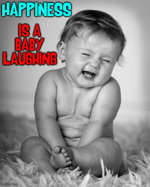 Remembering the Good Times |  HAPPINESS; IS A BABY LAUGHING | image tagged in vince vance,babies,memes,happiness,baby,laughing | made w/ Imgflip meme maker