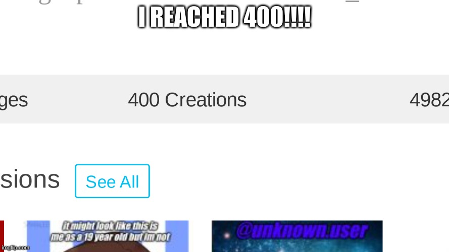 I REACHED 400!!!! | image tagged in my goals are beyond your understanding,never gonna give you up,never gonna let you down,never gonna run around,and desert you | made w/ Imgflip meme maker
