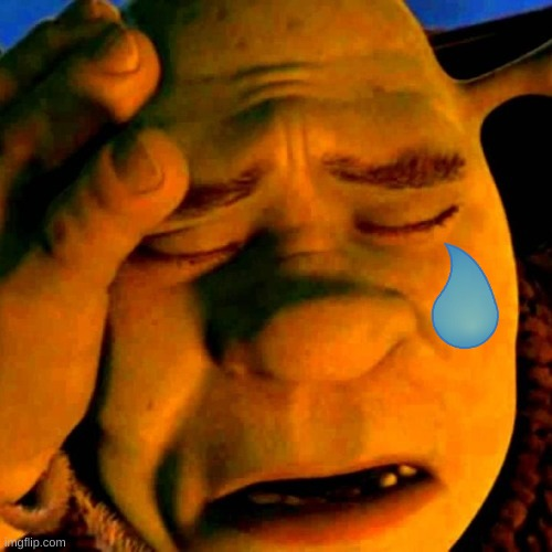sad shrek | image tagged in sad shrek | made w/ Imgflip meme maker