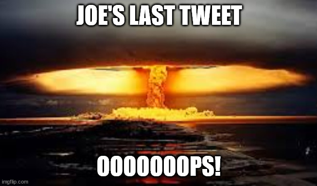 Tweeting Joe |  JOE'S LAST TWEET; OOOOOOOPS! | image tagged in football,tweet,joe biden | made w/ Imgflip meme maker