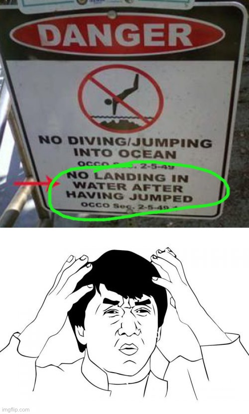 What is this | image tagged in memes,jackie chan wtf,funny,stupid signs,diving,ocean | made w/ Imgflip meme maker