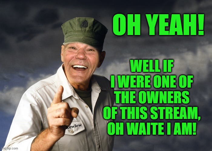 kewlew | OH YEAH! WELL IF I WERE ONE OF THE OWNERS OF THIS STREAM, OH WAITE I AM! | image tagged in kewlew | made w/ Imgflip meme maker