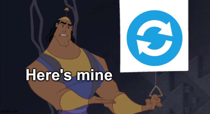 Kronk presentation | Here's mine | image tagged in kronk presentation | made w/ Imgflip meme maker