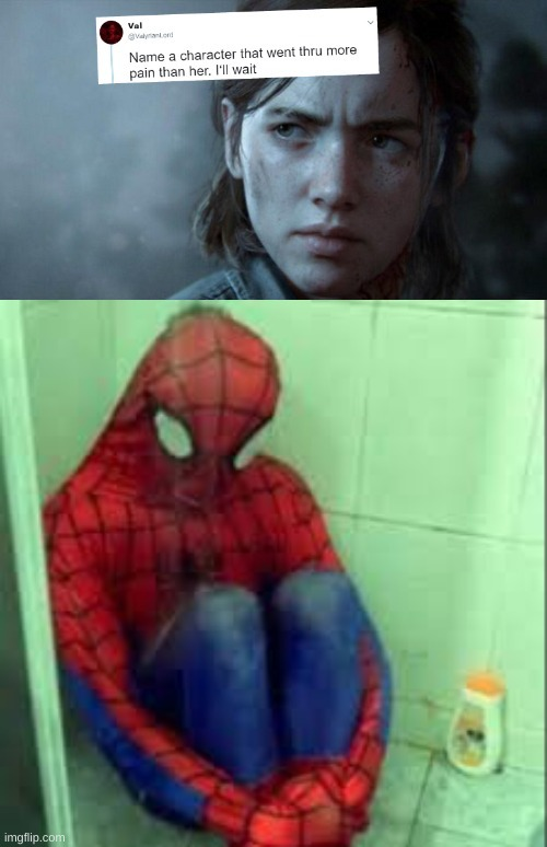 spidersad | image tagged in name someone who has been through more pain | made w/ Imgflip meme maker