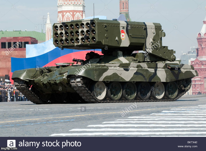 TOS-1 rocket launcher | image tagged in tos-1 rocket launcher | made w/ Imgflip meme maker