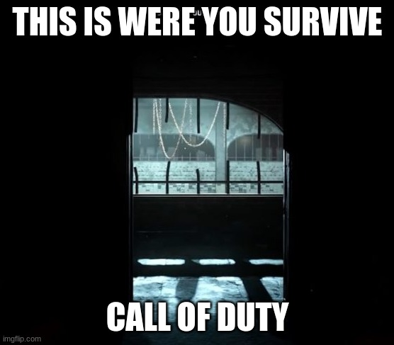 COD Gulag |  THIS IS WERE YOU SURVIVE; CALL OF DUTY | image tagged in cod gulag | made w/ Imgflip meme maker