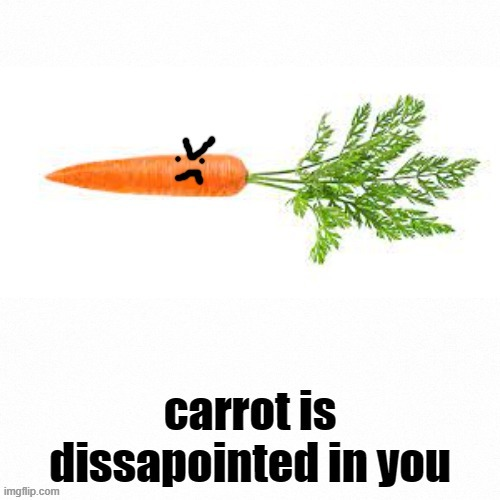 image tagged in angry carrot | made w/ Imgflip meme maker