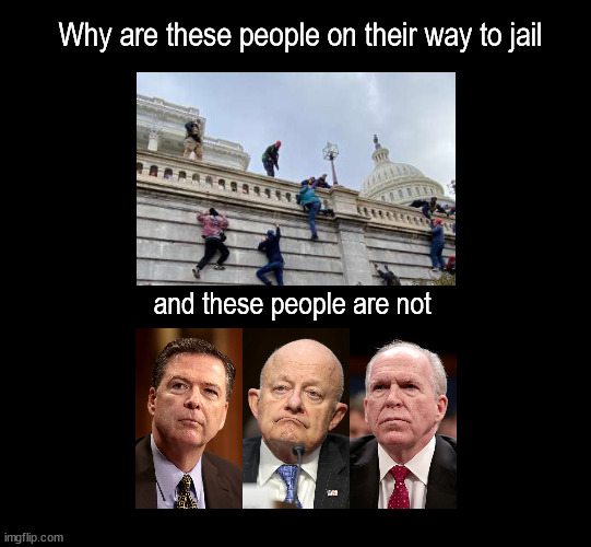 arresting small-fry |  Why are these people on their way to jail; and these people are not | image tagged in politics | made w/ Imgflip meme maker