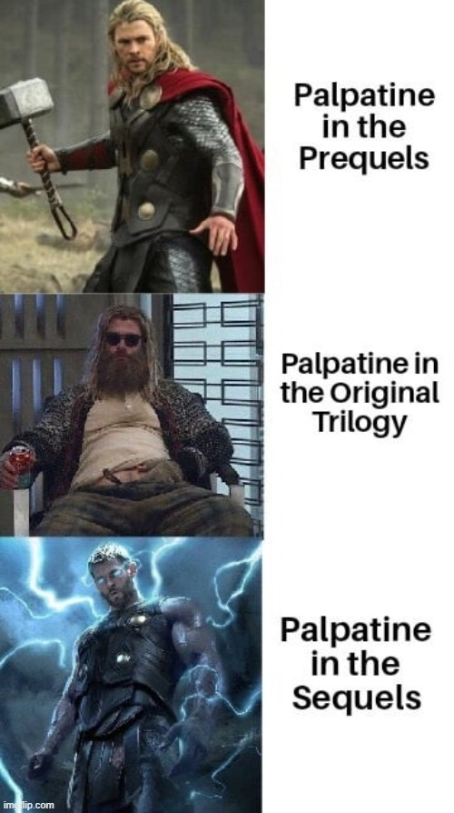 palpatine in the franchise | image tagged in star wars,memes,palpatine | made w/ Imgflip meme maker
