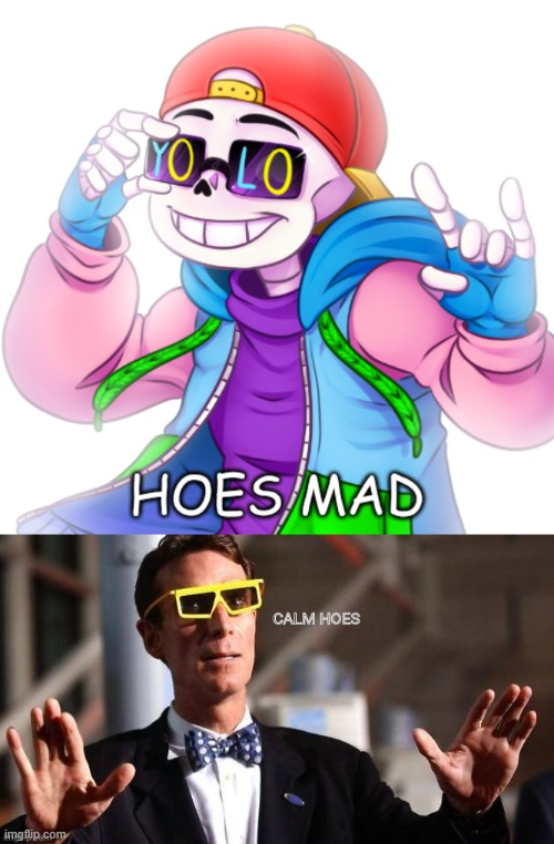 image tagged in underfresh hoes mad,bill nye calm hoes | made w/ Imgflip meme maker