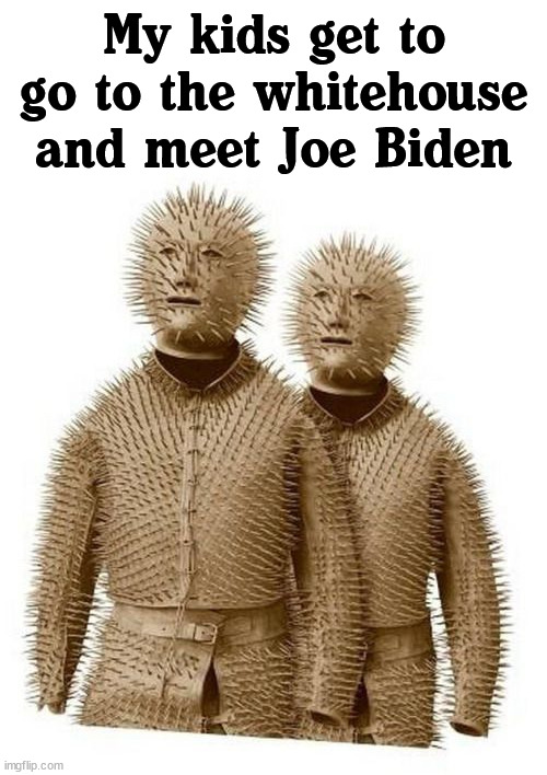 You see, because he likes to sniff kids. |  My kids get to go to the whitehouse and meet Joe Biden | image tagged in political meme,funny,joe biden | made w/ Imgflip meme maker