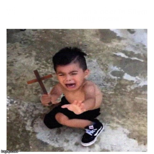 Cross kid | image tagged in cross kid | made w/ Imgflip meme maker