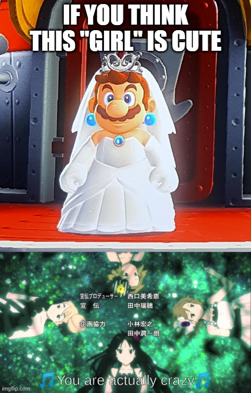 "no seriously, when I saw mario in a dress for the first time I freaked out |  IF YOU THINK THIS ""GIRL"" IS CUTE 