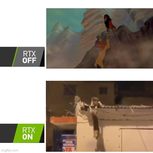 RTX  | image tagged in rtx,mufasa,lion king,cats | made w/ Imgflip meme maker