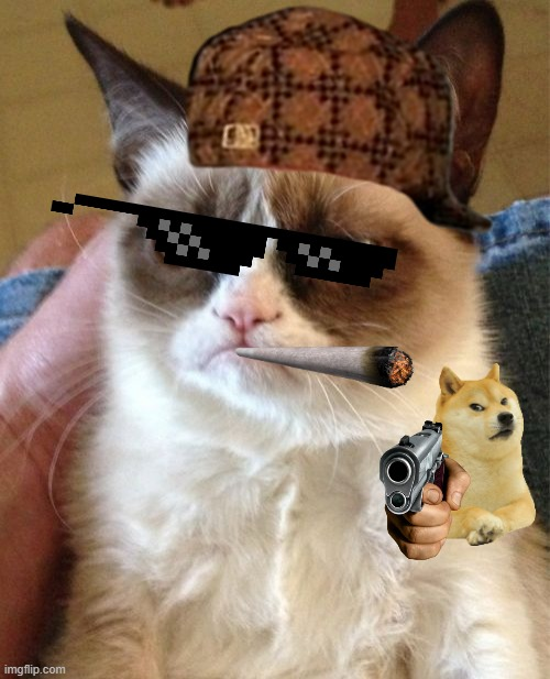 Just bored so I made this | image tagged in memes,grumpy cat | made w/ Imgflip meme maker